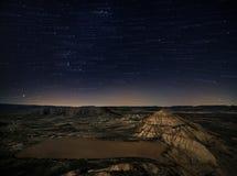 Sterne über der Wüste Lizenzfreie Stockfotografie