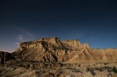 Sterne über der Wüste Lizenzfreies Stockfoto