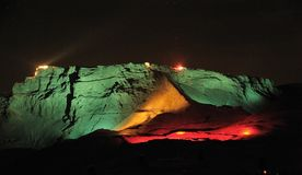 Sterne über Masada Lizenzfreies Stockbild