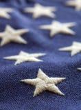 Sterne auf amerikanischer Flagge Lizenzfreies Stockbild