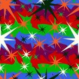 Sterne auf einem farbigen Hintergrund Lizenzfreies Stockfoto