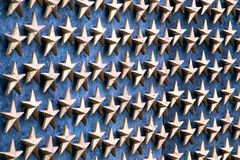 Sterne auf Wand Stockbilder