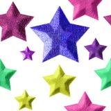 Sterne auf Weiß nahtlos Lizenzfreie Stockbilder