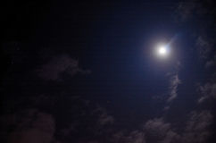 Sterne d'und de mond de Strahlender Images stock