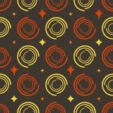 Sterne der farbigen Kreise des Hintergrundes Stockfotografie
