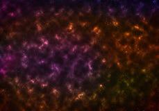 Sterne der Galaxie in einem freien Raum stock abbildung