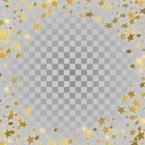 Sterne des Gold 3d auf transparentem Hintergrund Lizenzfreie Stockbilder
