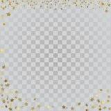 Sterne des Gold 3d auf transparentem Hintergrund Stockfotos