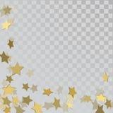 Sterne des Gold 3d auf transparentem Hintergrund Stockbilder
