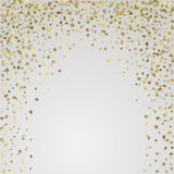 Sterne des Gold 3d auf weißem Hintergrund Stockfotos
