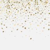 Sterne des Gold 3d auf whitet Hintergrund Stockbild