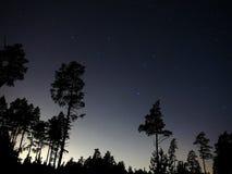 Sterne des nächtlichen Himmels, Leon-Konstellation observig beobachtend Stockfotos