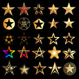 Sterne eingestellt stock abbildung