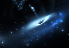 Sterne fällt in ein schwarzes Loch Lizenzfreie Stockfotos