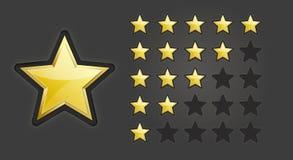 Sterne für das Veranschlagen Stockfotos