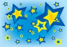 Sterne im blauen Himmel lizenzfreie abbildung