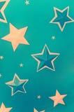 Sterne im blauen Hintergrund Lizenzfreie Stockfotografie