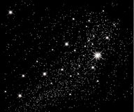 Sterne im Himmel stock abbildung