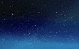Sterne im nächtlichen Himmel lizenzfreie abbildung