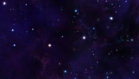 Sterne im Platz Stockbild