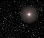 Sterne im Raumvektor Lizenzfreies Stockbild