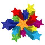 Sterne mit Feuerwerken vektor abbildung