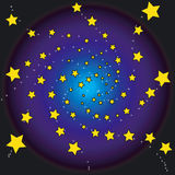 Sterne nachts stock abbildung