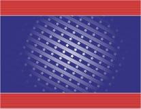 Sterne u. Streifen-Hintergrund Stockbild