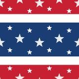 Sterne u. Streifen-nahtlose Fliese Lizenzfreies Stockbild