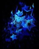 Sterne und Feuer Stockbild