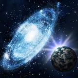 Sterne und galagy lizenzfreie abbildung