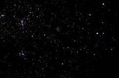 Sterne und Galaxiehimmelhintergrund Stockbilder