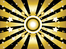 Sterne und Kreishintergrund Lizenzfreie Stockfotos