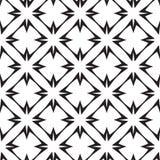Sterne und Kreuze, abstrakter geometrischer Vektor-nahtloses Muster. Stockfotos