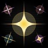 Sterne und Kugeln lizenzfreie abbildung