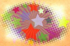 Sterne und Lichtstrahlen auf einem Papier. Lizenzfreie Stockbilder