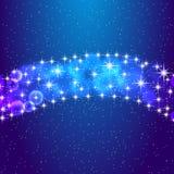 Sterne und nächtlicher Himmel Abbildung des Vektor eps10 Stockfoto
