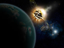 Sterne und Planet Lizenzfreies Stockbild