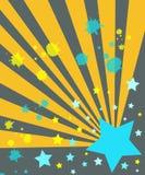 Sterne und Strahlen Lizenzfreies Stockbild