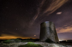 Sterne und Turm Stockfoto