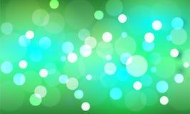 Sterne und Unschärfe Bokeh als der abstrakte und grüne Hintergrund lizenzfreie abbildung