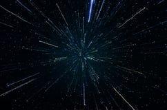 Sterne und Weltraumhimmelnachtuniversumhintergrund der Galaxie Stockfotografie