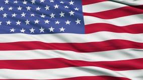 55 Sterne USA schließen herauf wellenartig bewegende Flagge lizenzfreie abbildung