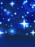 Sternenklare blaue Nacht Stockbilder