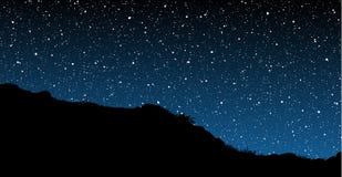Sternenklare Himmel Stockfotografie