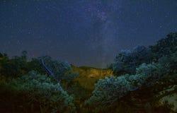 Sternenklare Nacht Stockbild