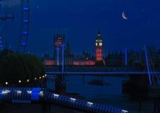 Sternenklare Nacht Big Ben Lizenzfreies Stockfoto