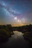 Sternenklare Nachtlandschaft Stockfotografie