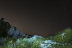 Sternenklare Nachtlandschaft Stockbilder