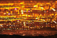 Sternenklare Stadt-Nachtszene Stockfoto